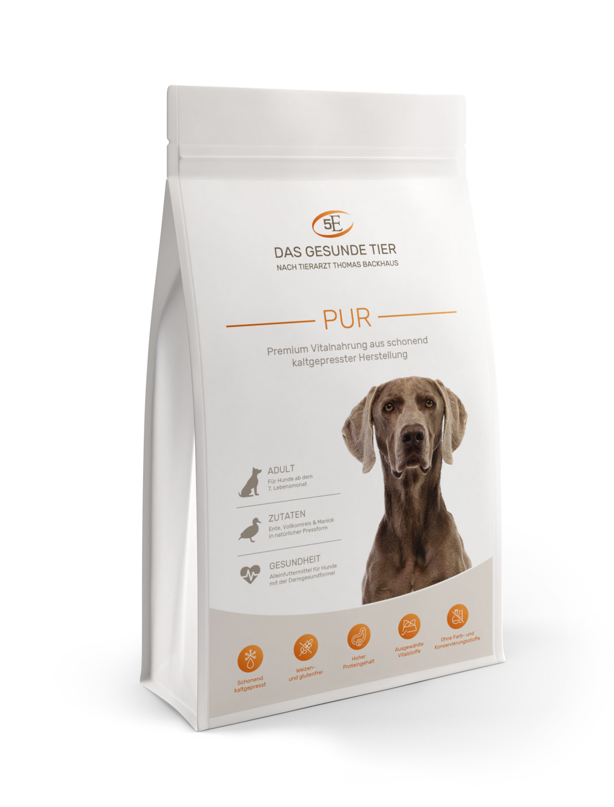 kaltgepresstes premium hundefutter pur 5 kg f r aktive hunde. Black Bedroom Furniture Sets. Home Design Ideas