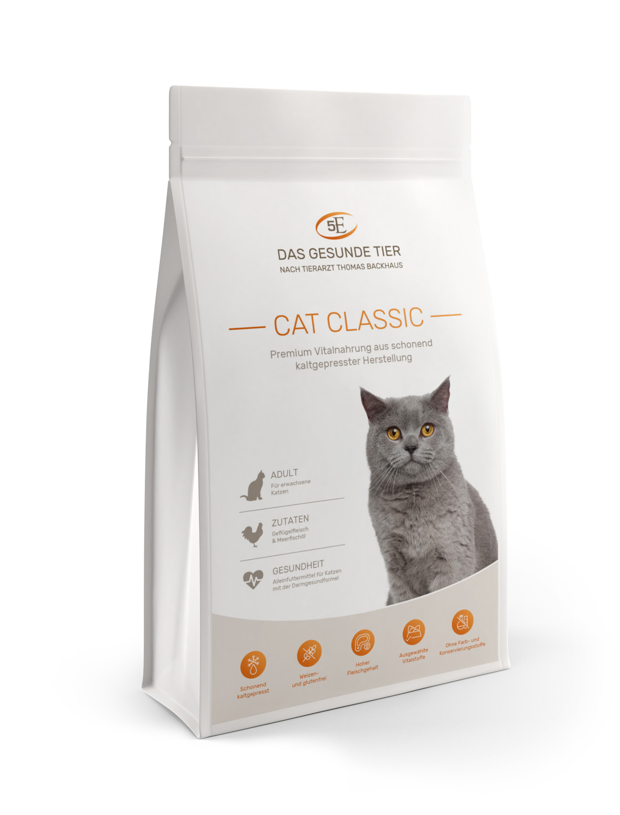 5 e kaltgepresstes katzenfutter cat classic 10 kg neu. Black Bedroom Furniture Sets. Home Design Ideas